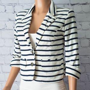Express Horizontal Striped Blazer